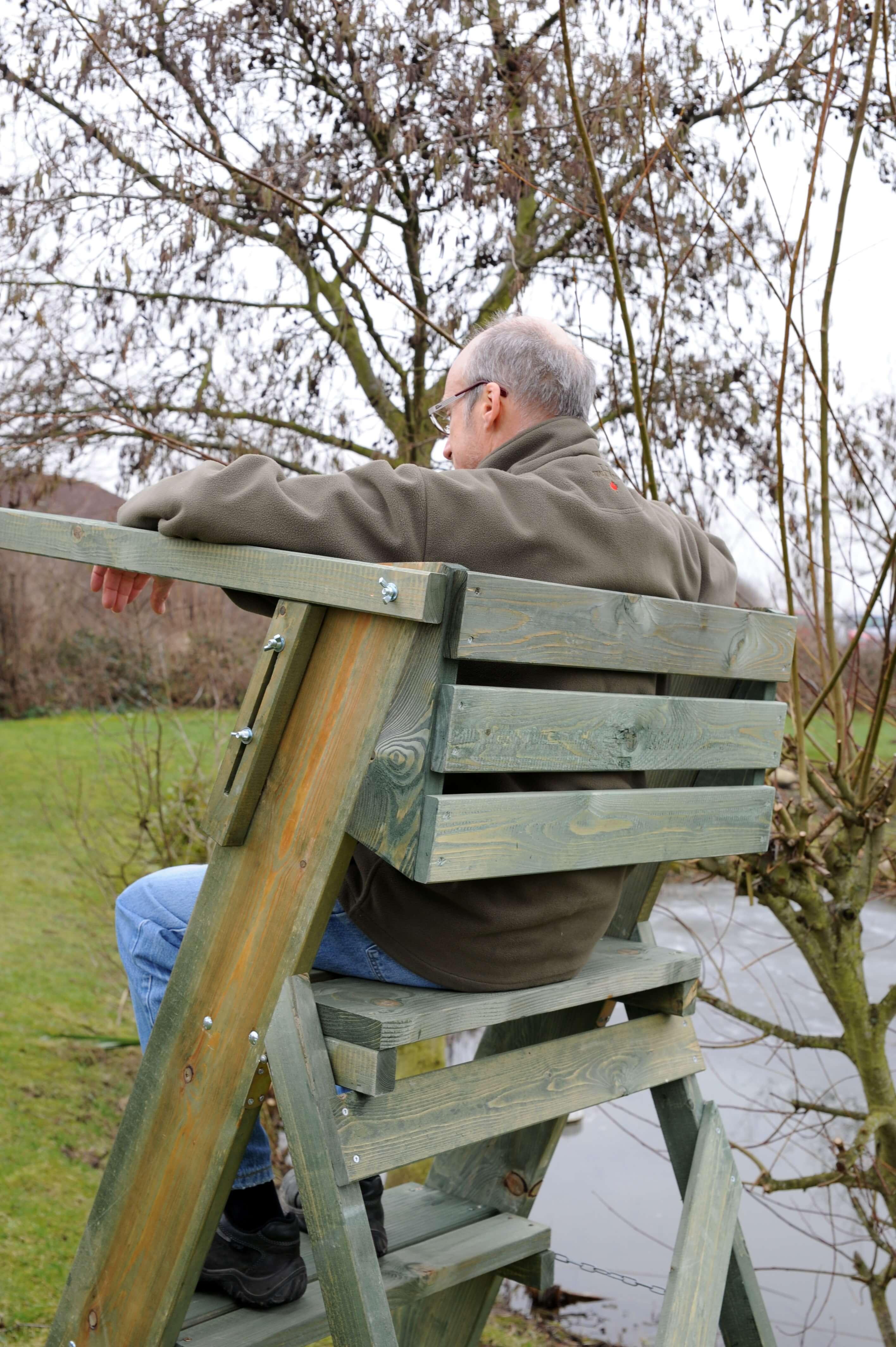 Ernteleiter mit Rückenverbreiterung