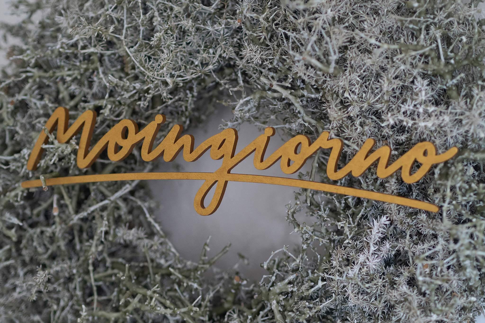 LA NORDISCH VITA Holz Lettering  Moingiorno gold