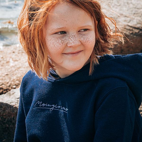 Hoodie Kids ozeanblau