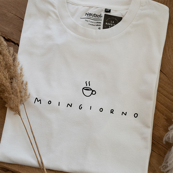 Shirt Moingiorno Kaffee  weiß