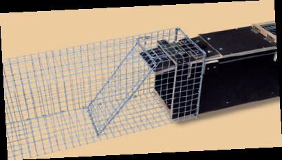 Abfangkasten aus Draht für Kastenfalle Fuchs und Dachs