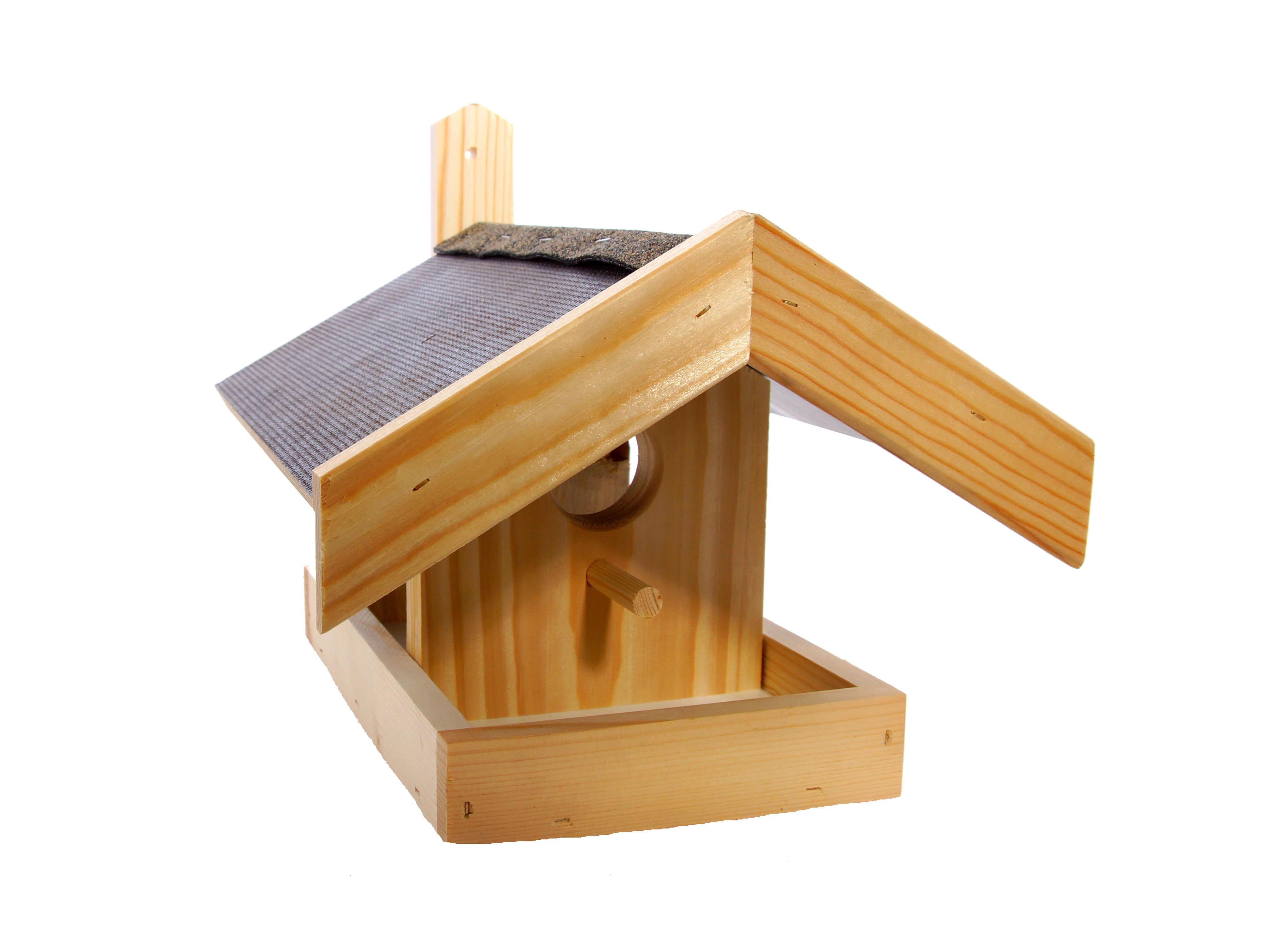Vogelfutterhaus mit Veranda klein
