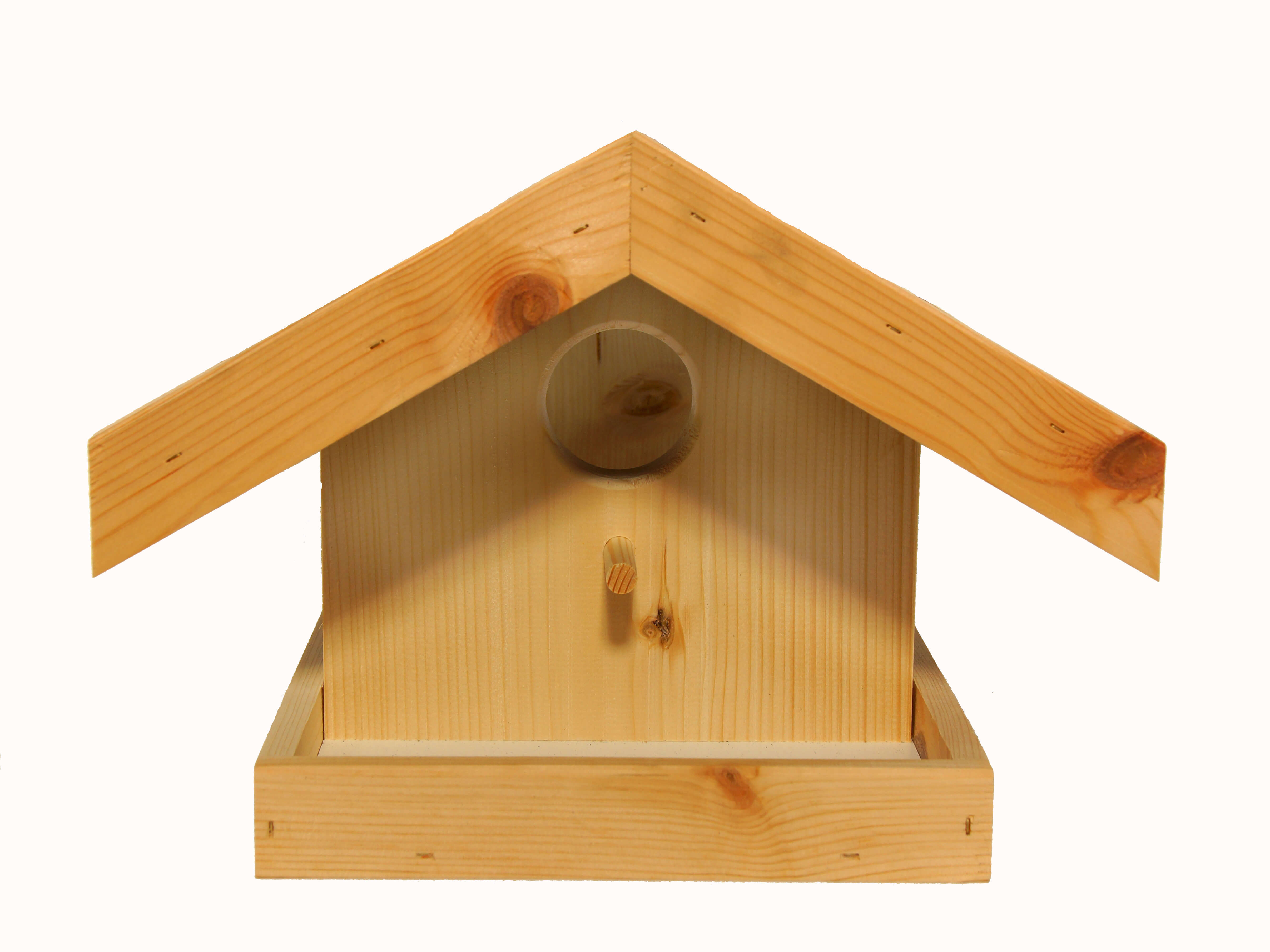 Vogelfutterhaus mit Veranda groß