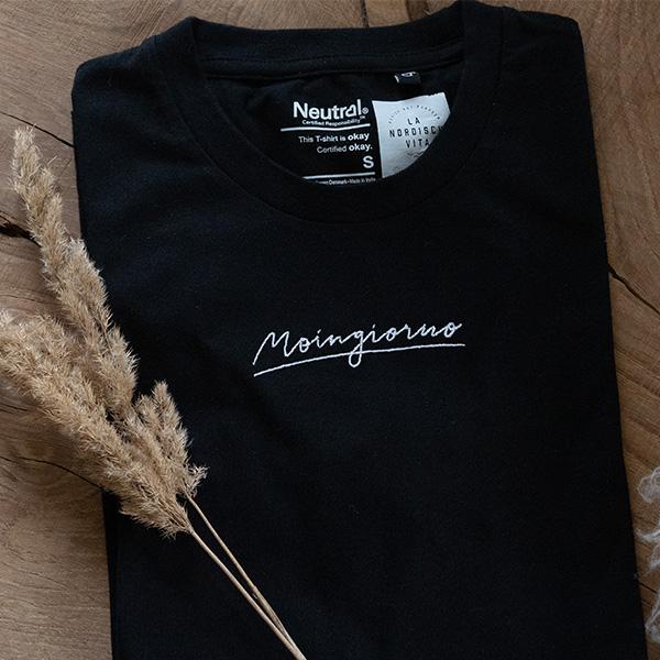 Shirt Moingiorno schwarz Stick