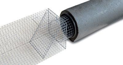 Abfangkasten aus Draht für Betonrohrfalle 250mm