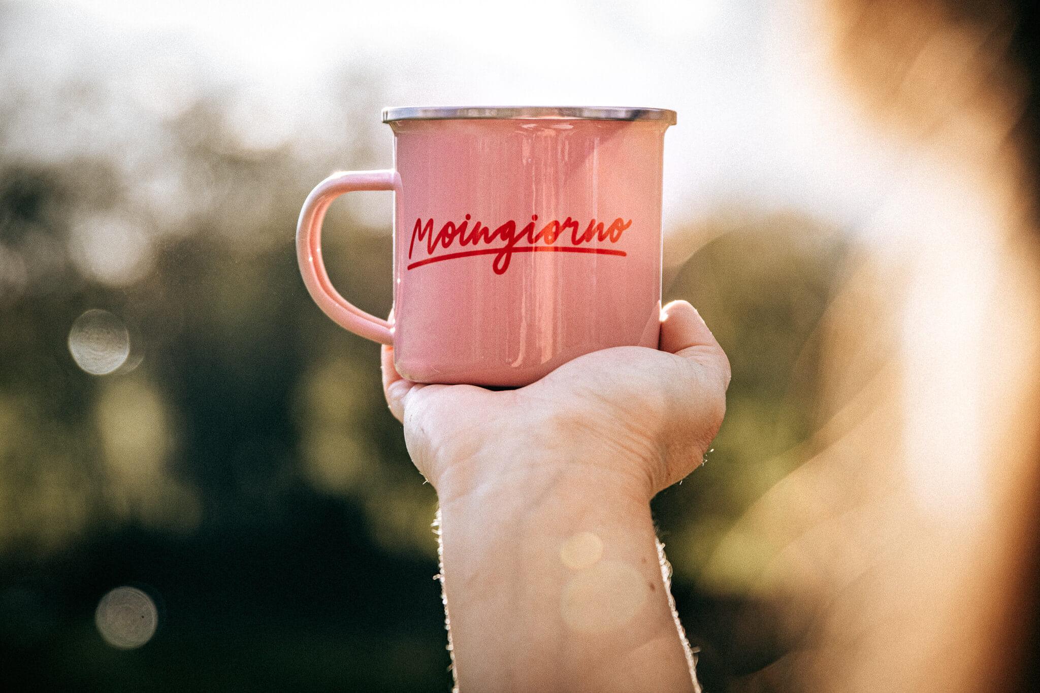 LA NORDISCH VITA Moingiorno Emaille Becher rosa