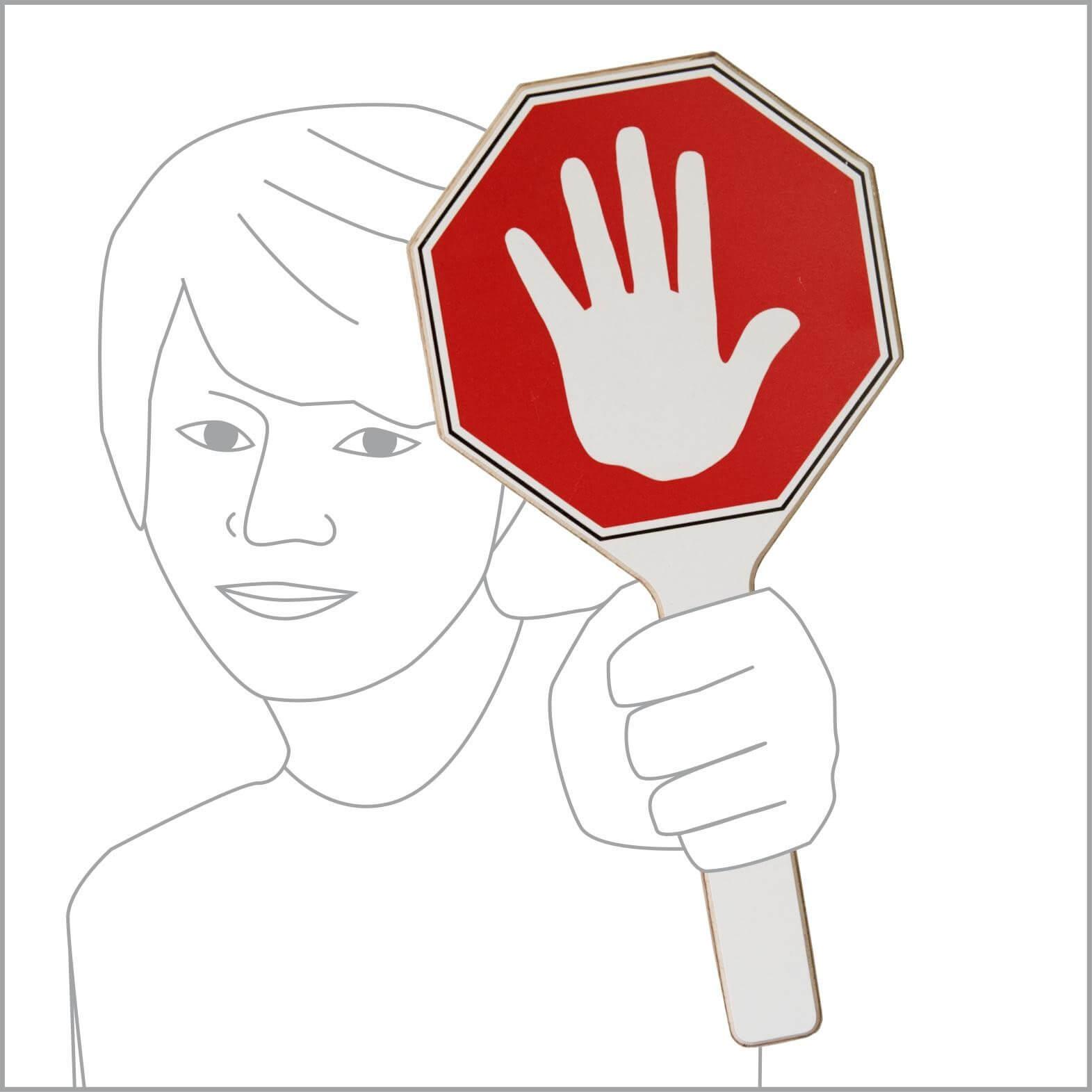 Stopp-Schild mit Hand