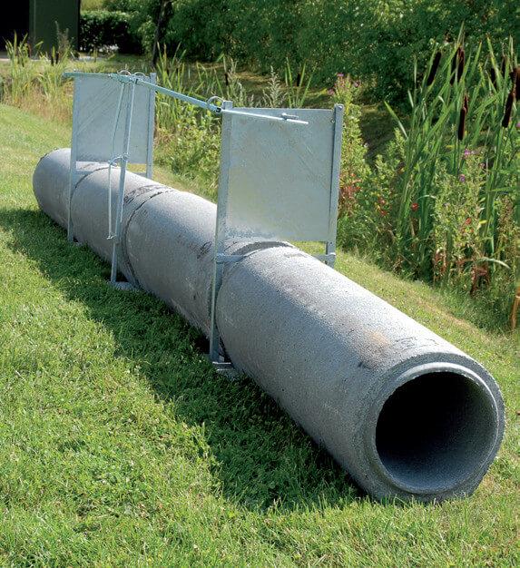 Betonrohrfalle für 250 und 300mm Rohre mit Fadenauslösung