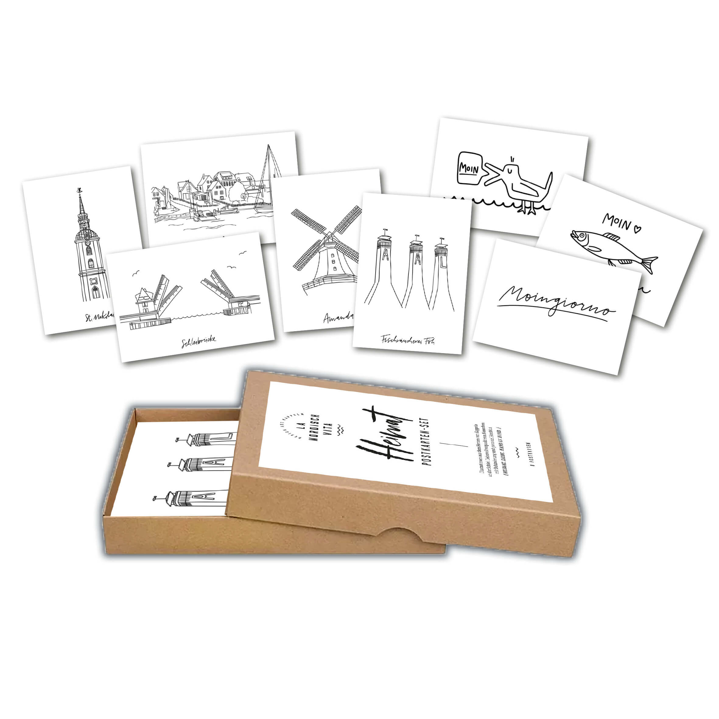 LA NORDISCH VITA Postkarten-Set Heimat