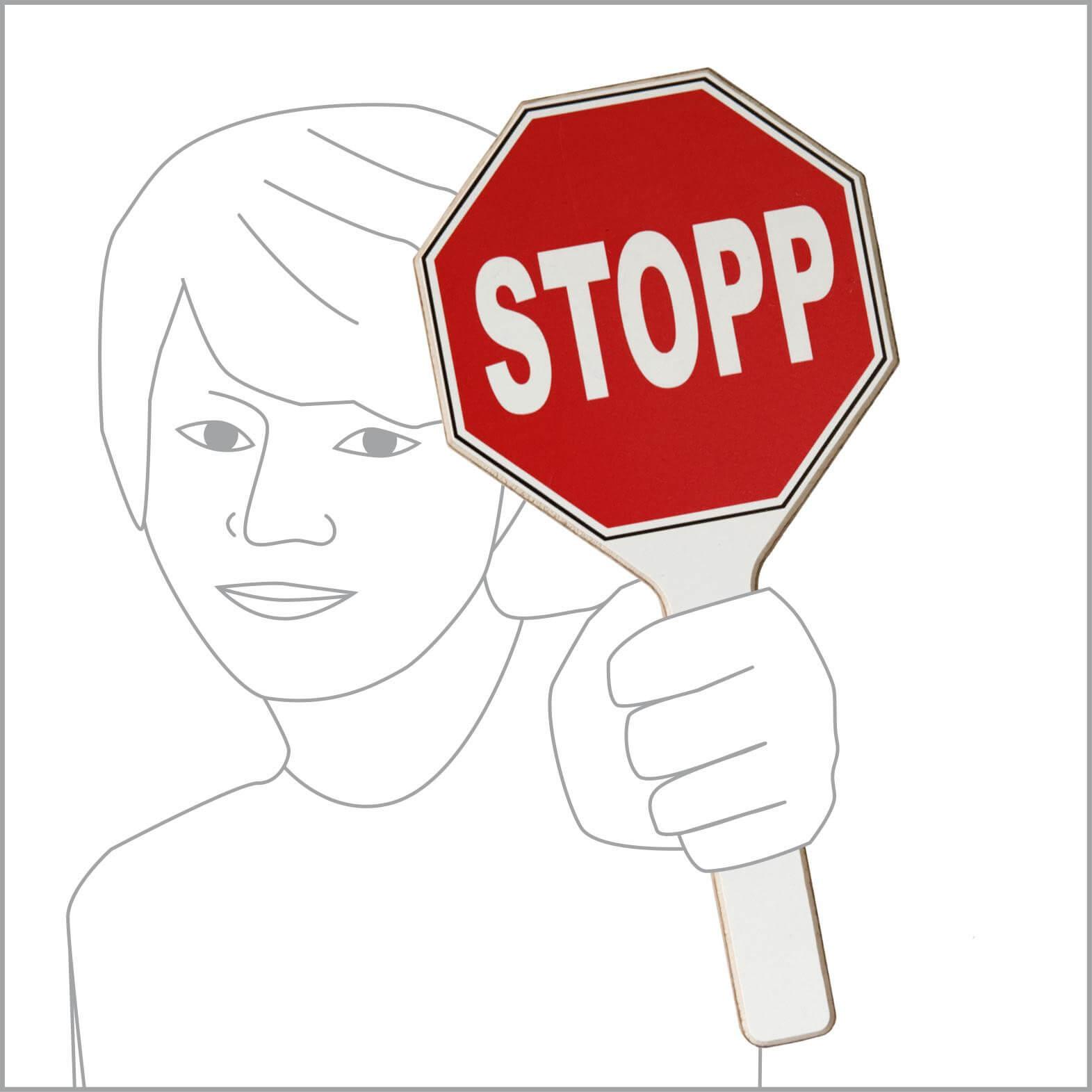 "Stopp-Schild mit Schriftzug ""Stopp"""