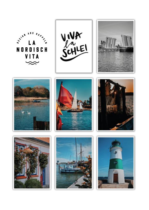 LA NORDISCH VITA Postkarten-Set Viva La Schlei