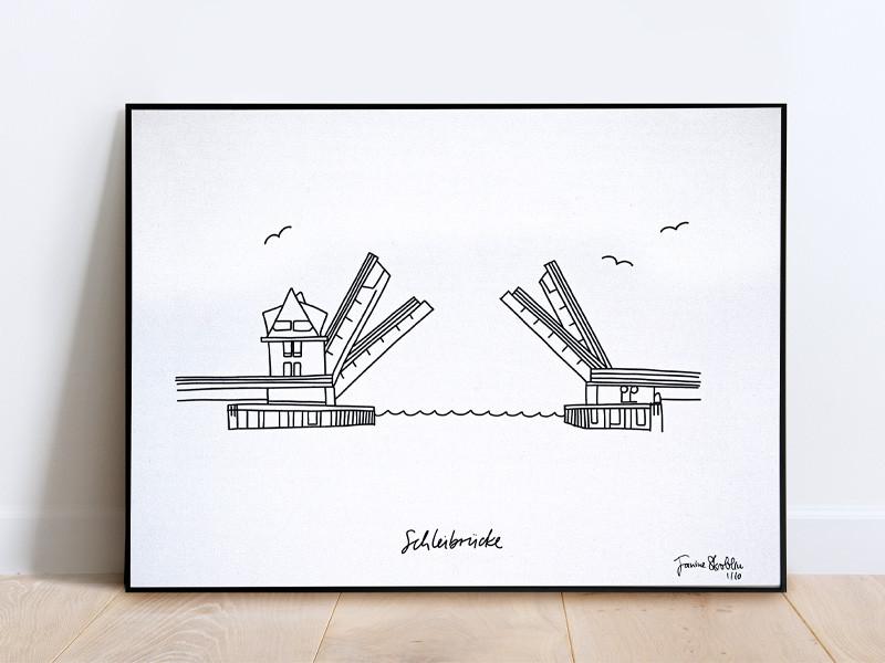 Tu was Gutes Kunstdruck 30x40 Sonderedition Schleibrücke